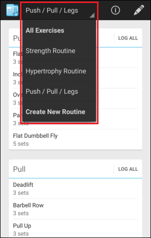 Routines - FitNotes