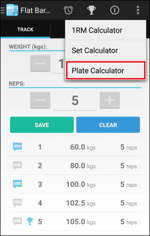 Training Screen Plate Calculator